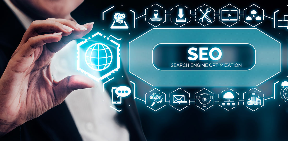 SEO - Search Engine Optimization for Online Marketing Concept.