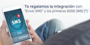 Te regalamos la integración con Envío SMS y los primeros 5000 SMS
