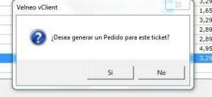 PANTALLA PREGUNTA GENERAR PEDIDO