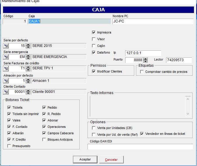 Integración TPV en el ERP Axos Visual con Datáfono