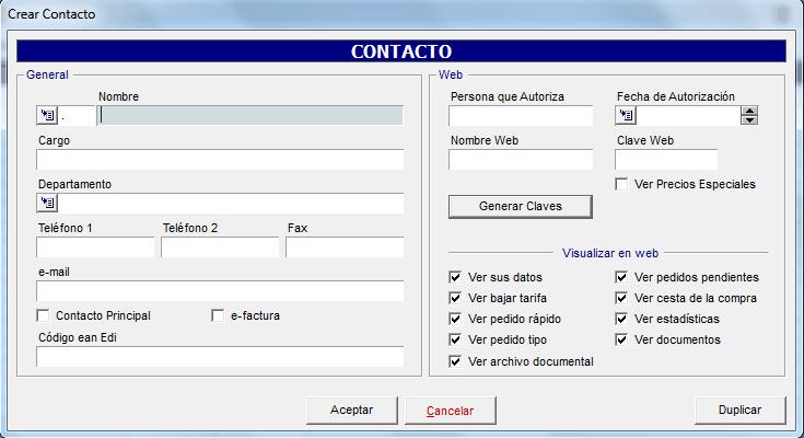 crear contacto