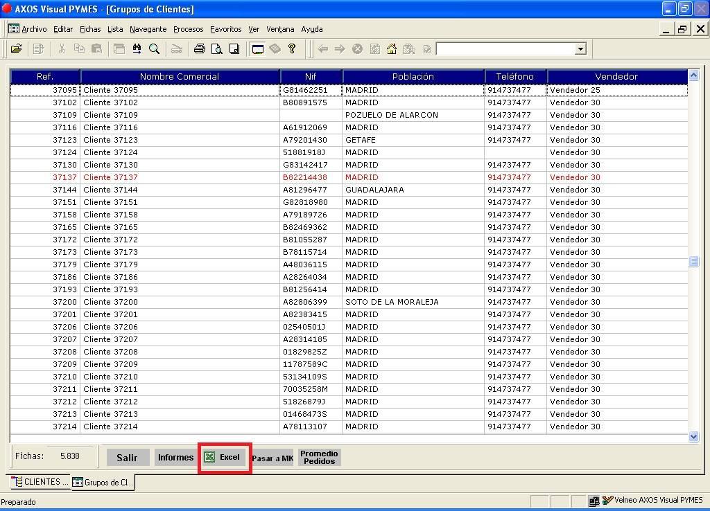 Manual de configuración de exportación a Excel en el software de ...